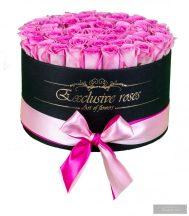 Exclusive Rózsa Box 28-30 szál Halvány rózsaszín rózsa fekete boxban