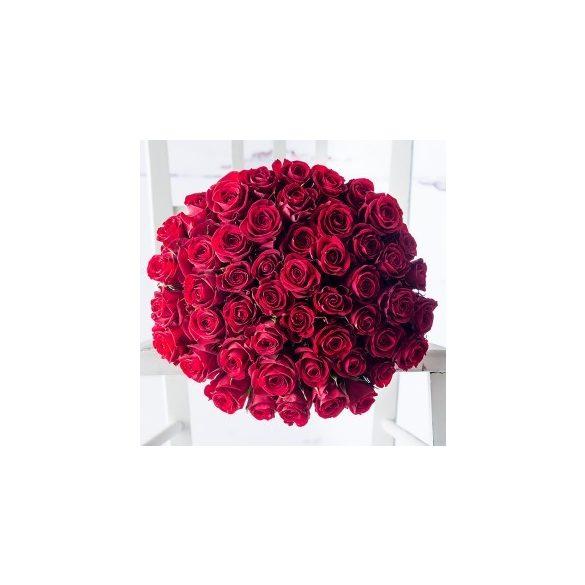 Rózsa csokor,50 szál Vörös rózsával