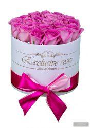 Exclusive Roses 18-20 rózsaszín rózsás box