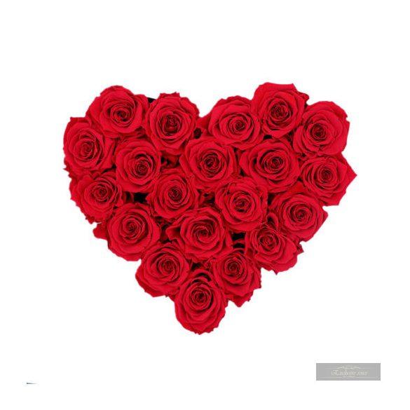 Exclusive Roses Örök Rózsa Szív alakú doxban