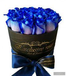 Exclusive Rózsa Box Kék rózsa fekete Boxban